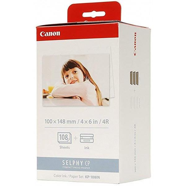 کاغذ و جوهر پرینتر کانن Color Ink & Paper Set Canon KP-108