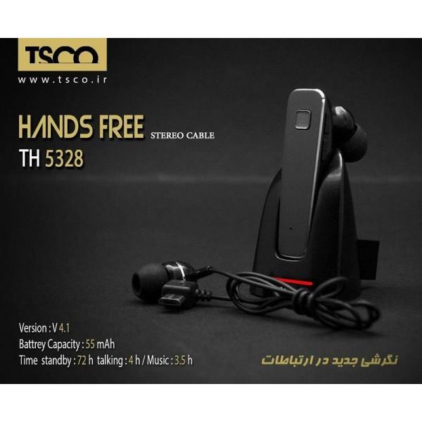هندزفری بلوتوث تک گوش تسکو Handsfree Bluetooth TSCO TH5328