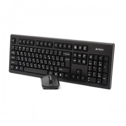 کیبورد و ماوس ای فورتک Keyboard Mouse Wireless A4Tech 3000N