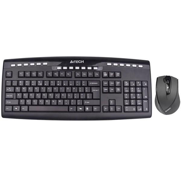 کیبورد و ماوس ای فورتک Keyboard Mouse Wireless A4Tech 9200F