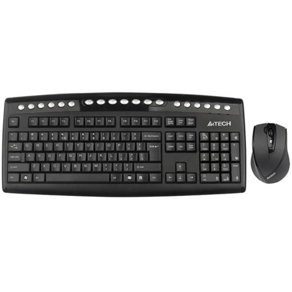 کیبورد و ماوس ای فورتک Keyboard Mouse Wireless A4Tech 9100F