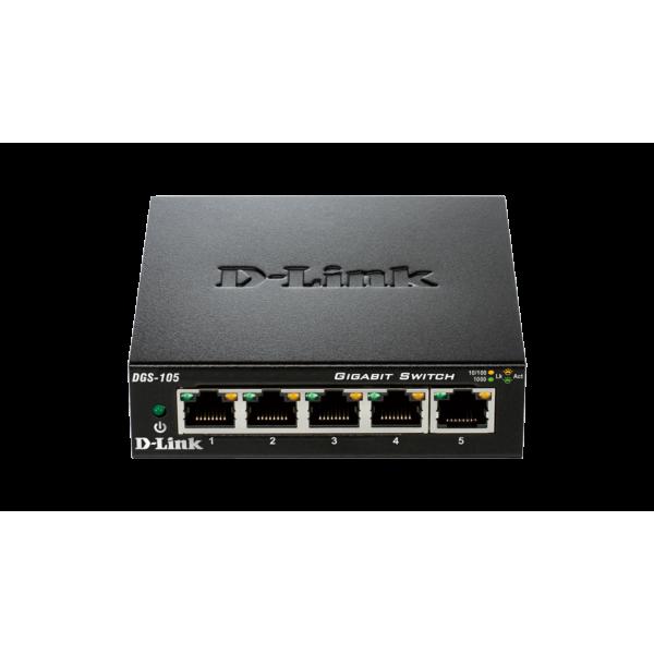 سوییچ شبکه 5 پورت گیگابیت دی لینک Hub Switch Gigabit D-Link DGS-105