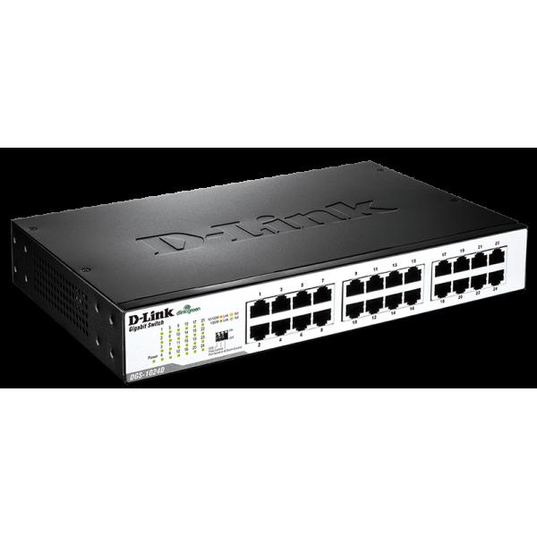 سوییچ شبکه 24 پورت گیگابیت غیر مدیریتی دی لینک Hun Switch Gigabit D-Link DGS-1024D